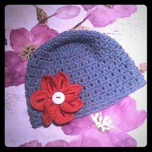 Accessories - Teal Blossom 🌼 Crotchet Beanie